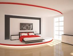 modern bedroom black and red. A Stage-like Platform Adds Modern Luxury To This Red And Black Bedroom. The Layered Paint Treatment On Headboard Wall Accents Of Bedroom R