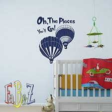 oh the places you ll go quote dr seuss wall decal vinyl stickers nursery bedroom on dr seuss oh the places youll go wall art with amazon oh the places you ll go quote dr seuss wall decal vinyl