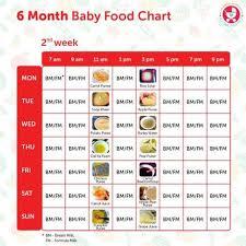 2 Months Baby Food Chart 6 Months Baby Food Chart With Indian Recipes Paperblog