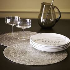 beaded placemat set