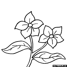 Small Picture Innovation Idea Small Flower Coloring Pages Tulip Flower Coloring