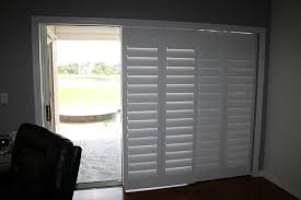image of shades window treatments for sliding glass doors