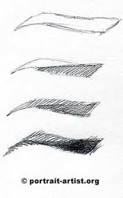 eyebrow shading drawing. eyebrow step-by-step shading drawing