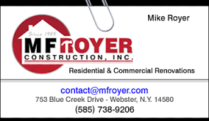 Mf Royer Construction General Contractor Rochester Ny Home