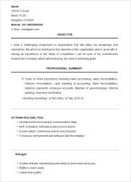 Sample Bcom Graduate Resume Template