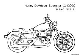 Coloriage Moto Harley Davidson Sport Dessin