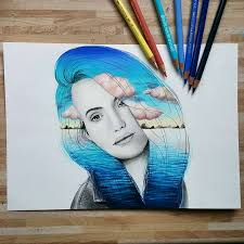 68 best some color images on color pencil drawings