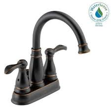 centerset 2 handle bathroom faucet in oil rubbed bronze