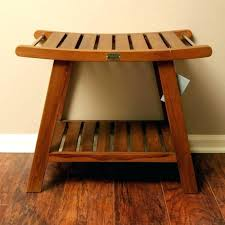 teak shower stool bench for by bed bath and beyond corner uk