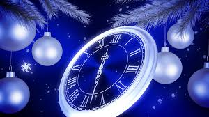 New Year Backgrounds Silver New Year Clock Countdown On Blue Background 3d Animation 4k
