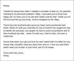 I Wrote This Letter For My Boyfriend, Please Take The Time To Read ...