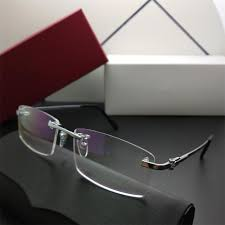 Designer Rimless Glasses Mens 2019 2019 Men Rimless Glasses Luxury France Designer Rectangle Myopia Eyewear For Business Leisure Reading High Quality Titanium Glasses With Box From