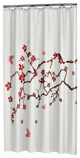 extra long shower curtain 72 x78 sealskin blossom print white fabric