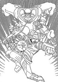 Redakai Characters Anime Coloring Page For