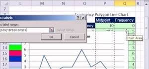 How To Create A Frequency Polygon Line Chart In Ms Excel