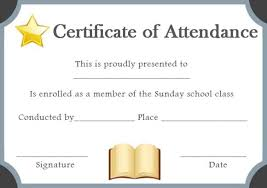 Sunday School Certificate Template 17 Specialized