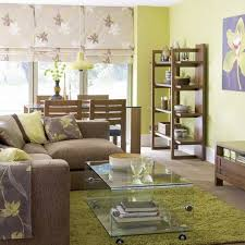 green and brown color scheme for living room home design ideas