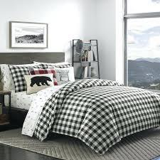 black white mountain plaid comforter set buffalo duvet king size cover