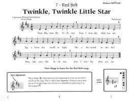 Twinkle Twinkle Little Star Recorder Finger Chart 7 Red Belt
