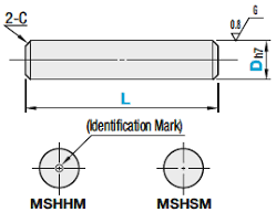 Machining Tolerance Chart H7 Dowel Pins Both Ends Chamfered H7 Tolerance Misumi