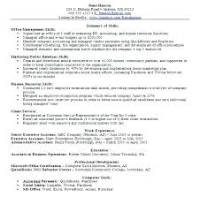Examples Objective For Resume