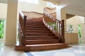 luxurious wooden stairway rails