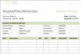 Medical Bills Format Word Dotxes