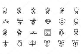 賞メダル ベクトルの線アイコン 1 ストックベクター Creativestall