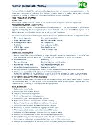 Production Operator Job Description Resume Best of Field Production Operator CV