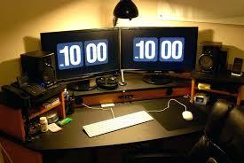 dual desk home office. best home office setup laptop coolest setups amazing programmer desk dual n