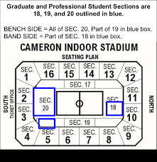 Duke Basketball Seating Chart Attending A Mens Basketball Game In Cameron Indoor Duke