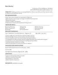 Resume For Babysitting Examples Proyectoportal Com