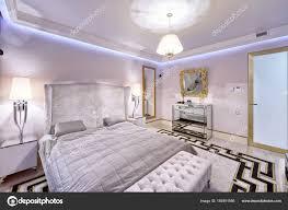 Russland Moscow Region Schlafzimmer Innenraum Einem Neuen Luxushaus