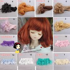 15cm*<b>100cm doll</b> ringlet wigs black gold blown purple khaki bjd ...