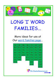Word Families Template