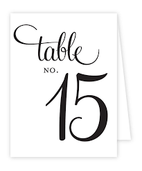 free printable table number tent template