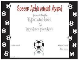 Free Soccer Certificate Templates Free Printable Award Certificate Template Award