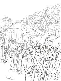 Jozua En De Val Van Jericho Kleurplaat Gratis Kleurplaten Printen