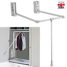 adjustable wardrobe hanging rail lift
