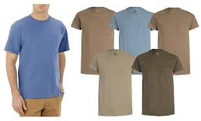 Fruit Of The Loom T Shirt Color Chart Fruit Of The Loom Mens Pocket T Shirts 5 Pack Assorted Colors Sizes M Xl