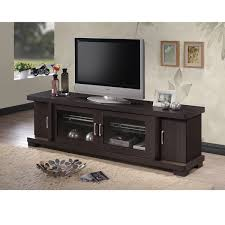 wooden tv cabinet. Copper Grove Carson Contemporary 70-inch Dark Brown Wood TV Cabinet With 2 Glass Doors Wooden Tv
