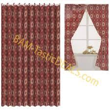 get ations matching bath set burdy circles window curtain fabric shower curtain rings