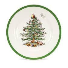 Spode Christmas Tree Set of 4 Salad Plates