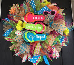 summer wreaths for front doorBest 25 Mesh wreaths summer ideas on Pinterest  Deco mesh
