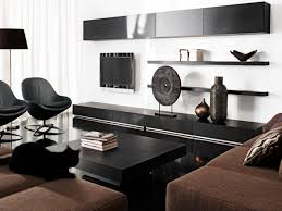 ... Black And White Home Decor Interior Decorating Ideas Living Room  Stunning Open Shelves Attach Intended 96 ...