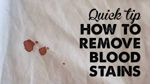 quick tip how to remove blood sns