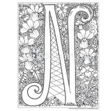 letter n coloring sheet c page for toddlers