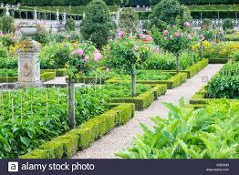 Parterre Vegetable Garden Design Chateau Villandry Loire Valley France The Famous