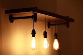 pipe track lighting chandelier