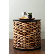 wicker end tables side tables hayneedle rattan end table white rattan table runner